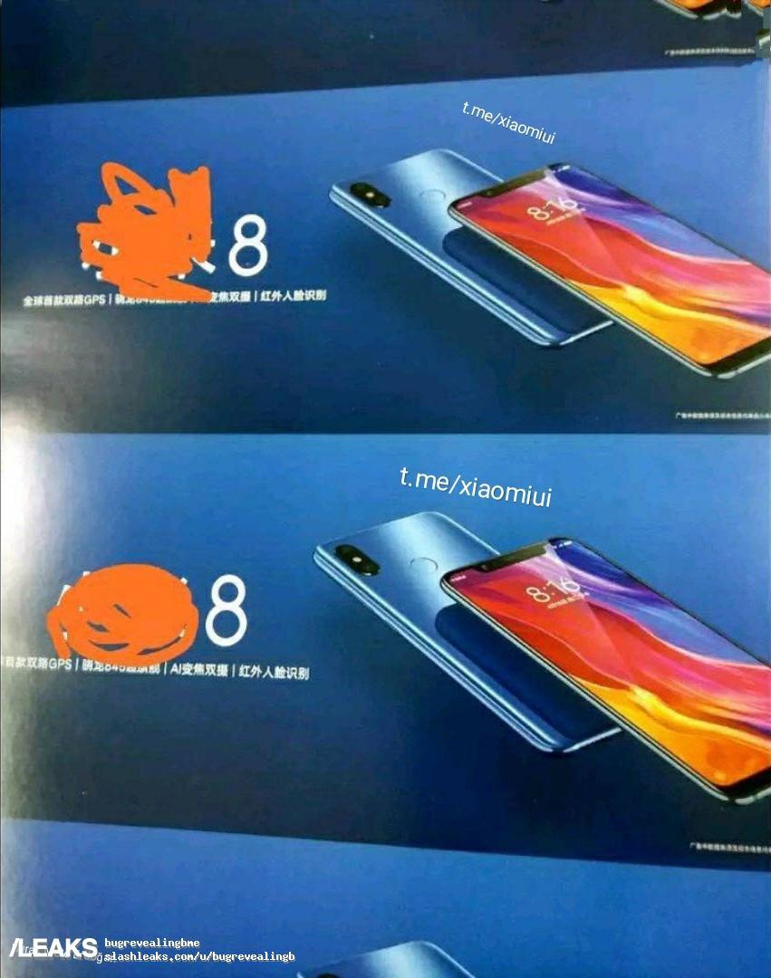 Xiaomi mi 8 renderiza impressões digitais nas costas