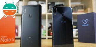 Comparación Xiaomi Redmi Note 5 vs ASUS ZenFone 5