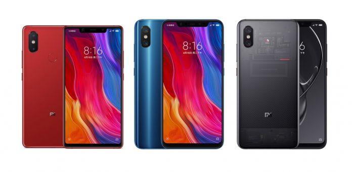 Xiaomi Mi 8 gegen Xiaomi Mi 8 Explorer Edition gegen Xiaomi Mi 8 SE