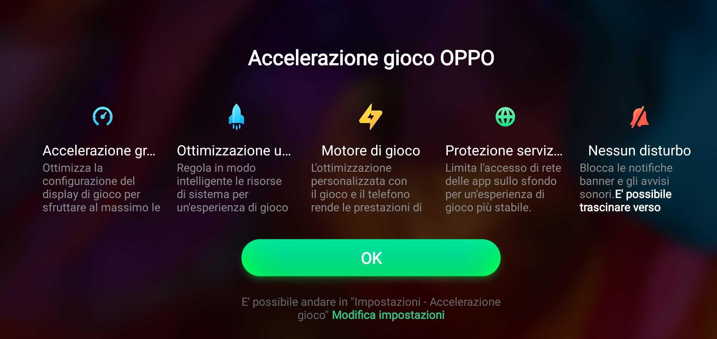 OPPO R15 Pro accelerazione gioco