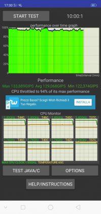 OPPO R15 Pro cpu stress test