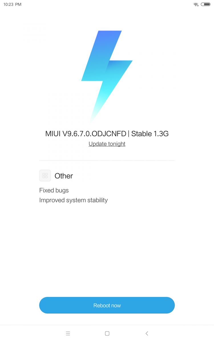 xiaomi mi pad 4 software miui 9.6.7.0 china stable