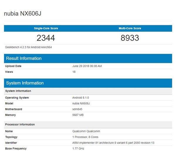 nubia-z18-geekbench-benchmark