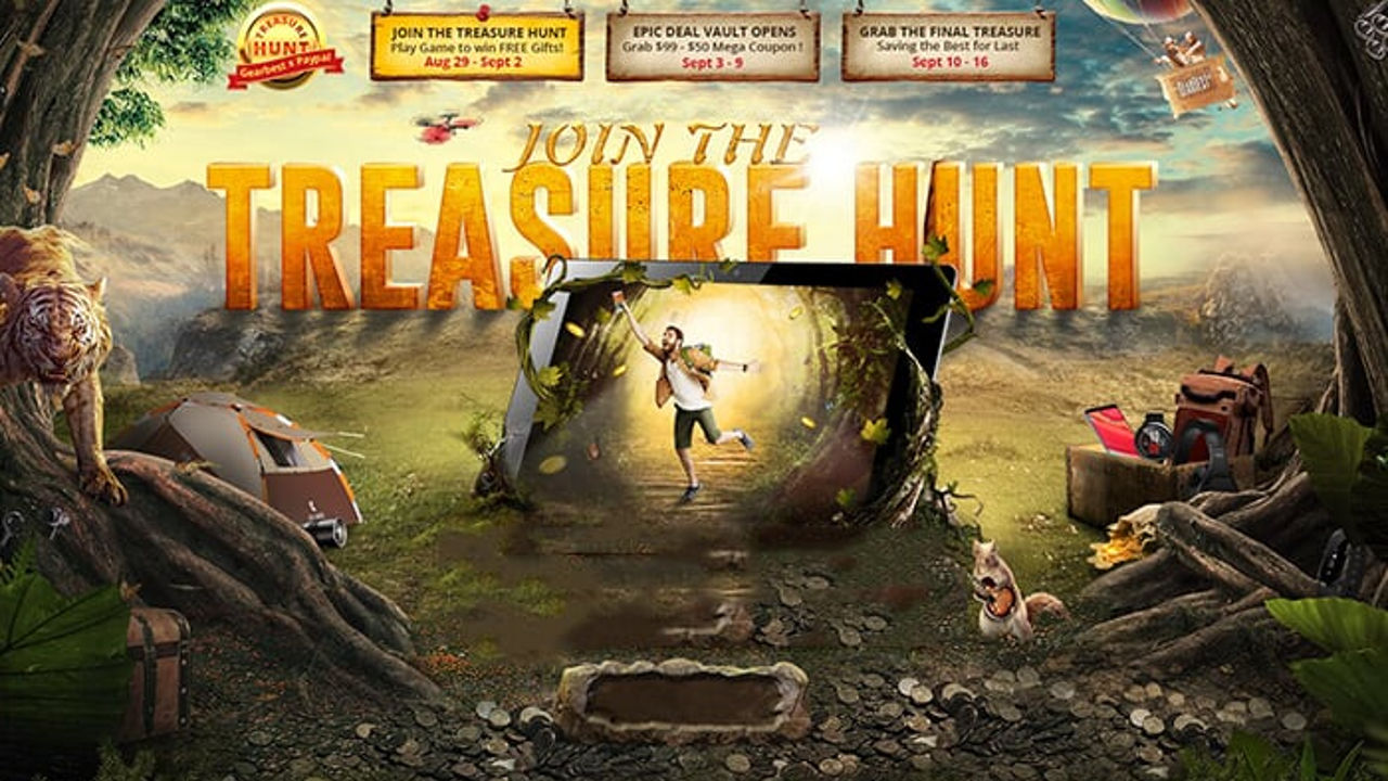 caza del tesoro de gearbest
