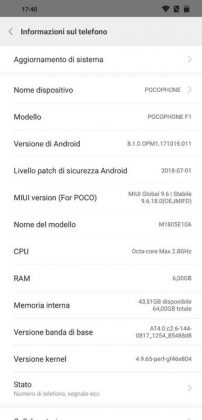 pocophone f1 software