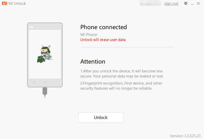 sblocco bootloader xiaomi