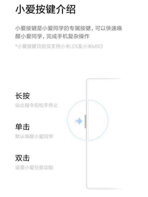 Assistente de voz Xiaomi Mi MIX 3 Xiaomi LEX