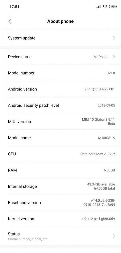 Xiaomi Mi 8: MIUI 10 Global Beta available with Android 9 Pie