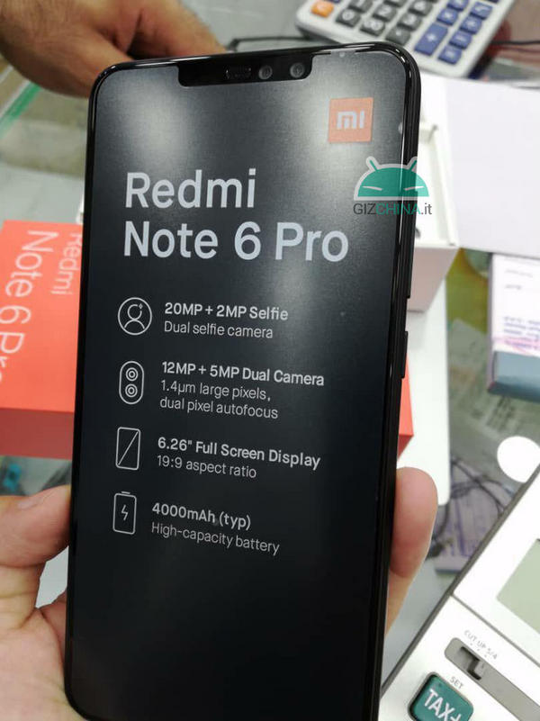 Xiaomi Redmi Notes 6 Pro Emballages De Vente Et De Conception Dans