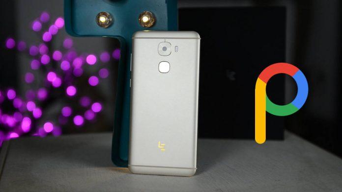 leeco o pro 3 pixel experiência android 9.0 pie