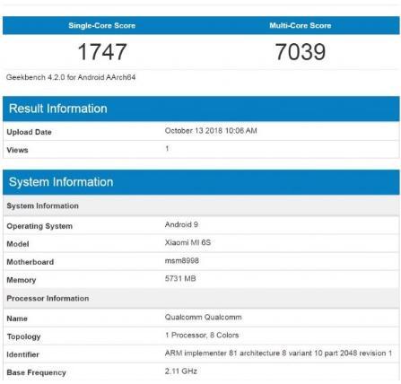 Xiaomi Mi 6S Fake 1