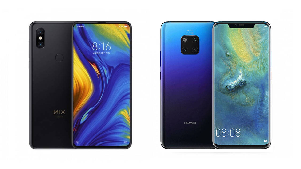 xiaomi mi mix 3 vs huawei mate 20 pro
