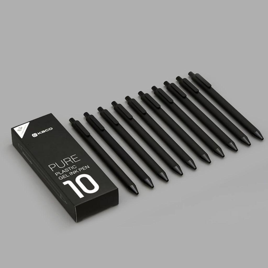 Xiaomi Youpin KACO جل القلم 10 قطع بيضاء أو سوداء - الزنابير