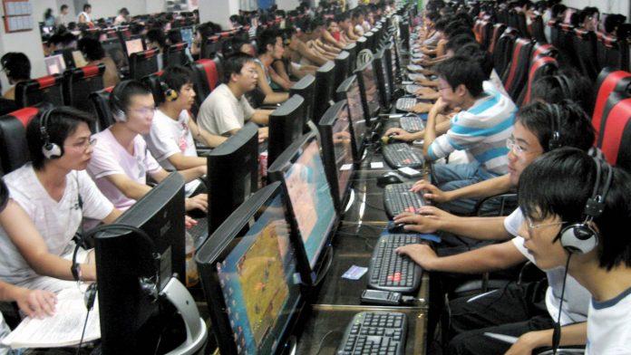 China internet cafés vício jogos de vídeo