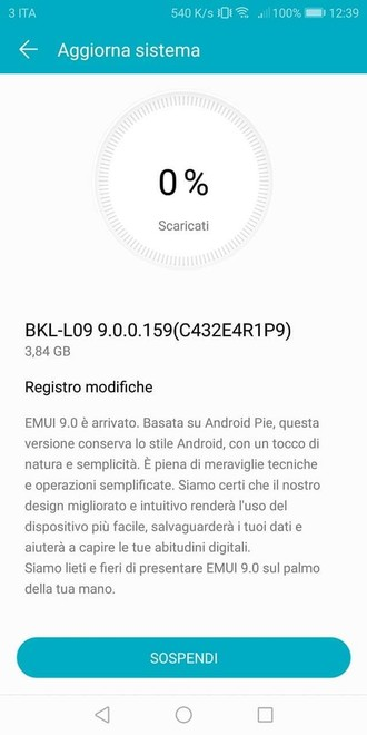 honor view 10 android 9 pie