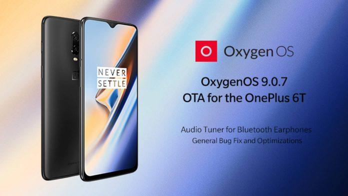 oneplus 6t oxygenos 9.0.7