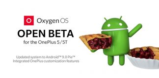 OnePlus 5T OxygenOS Android 9.0 Pie