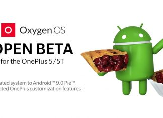 OnePlus 5T OxygenOS Android 9.0 Pie