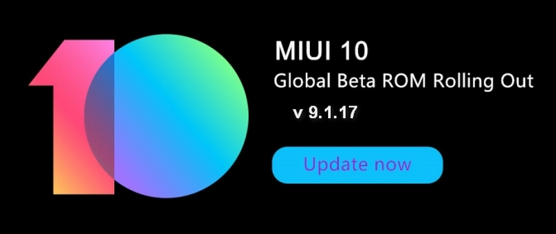 miui cafè miui 10 global beta 9.1.17