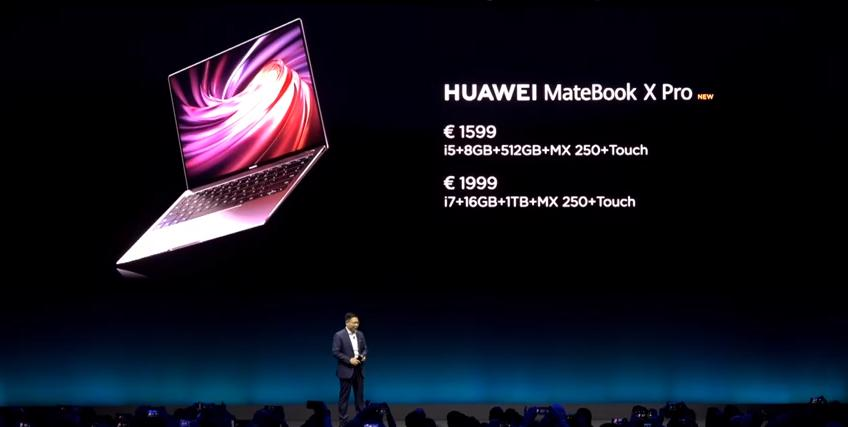 Huawei Matebook 1 prezzi