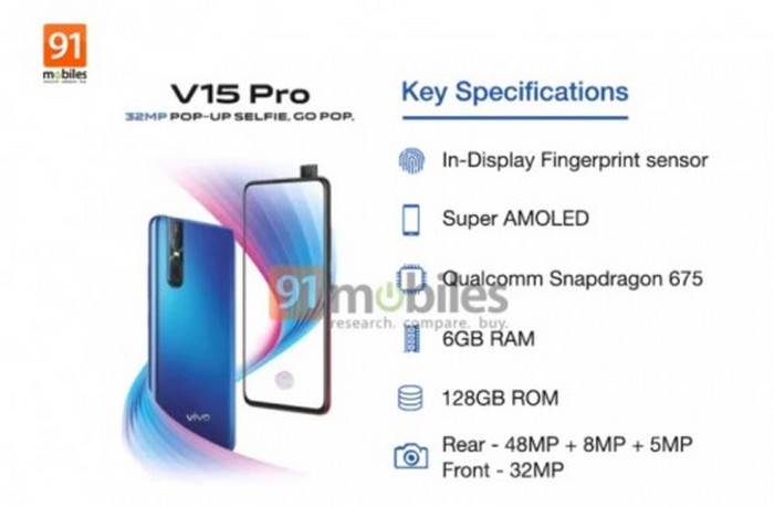 Vivo V15 Pro: new renderings and first indications on the