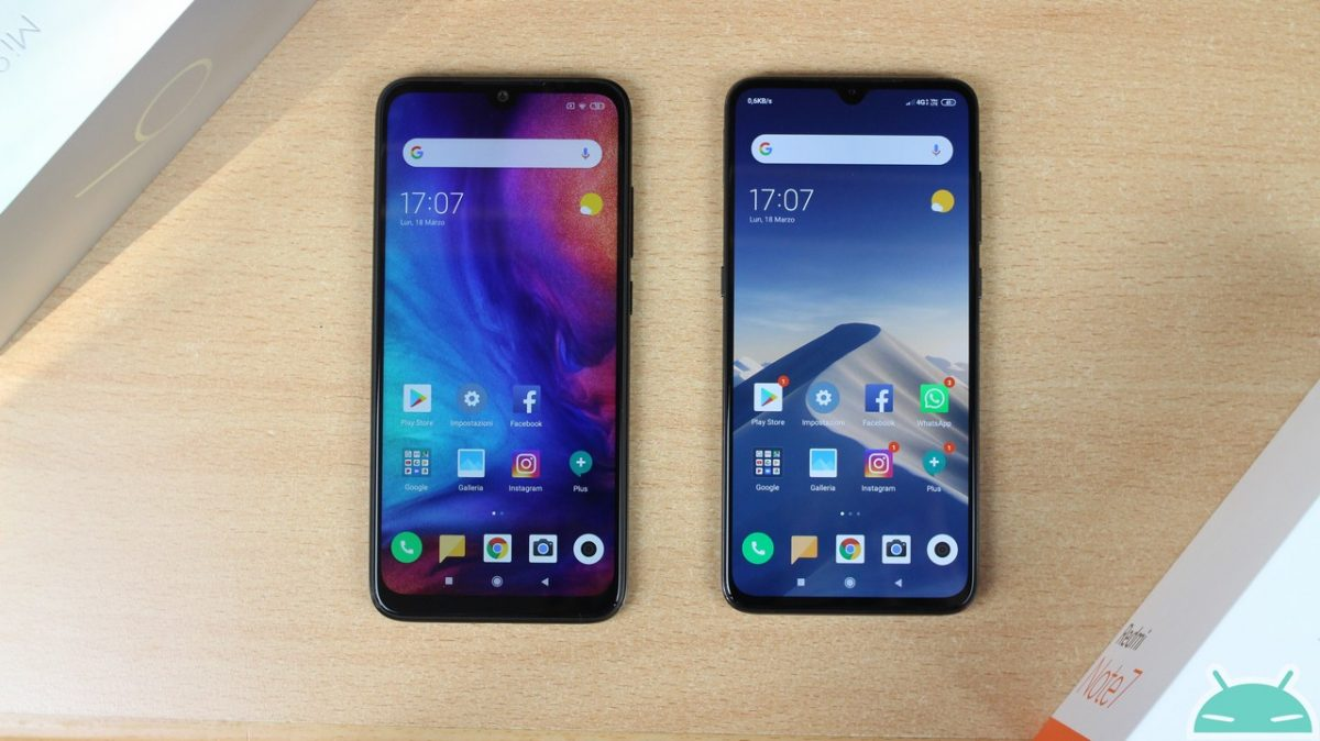 Comparison Xiaomi Mi 9 vs Redmi Note 7: which to buy? - GizChina.it