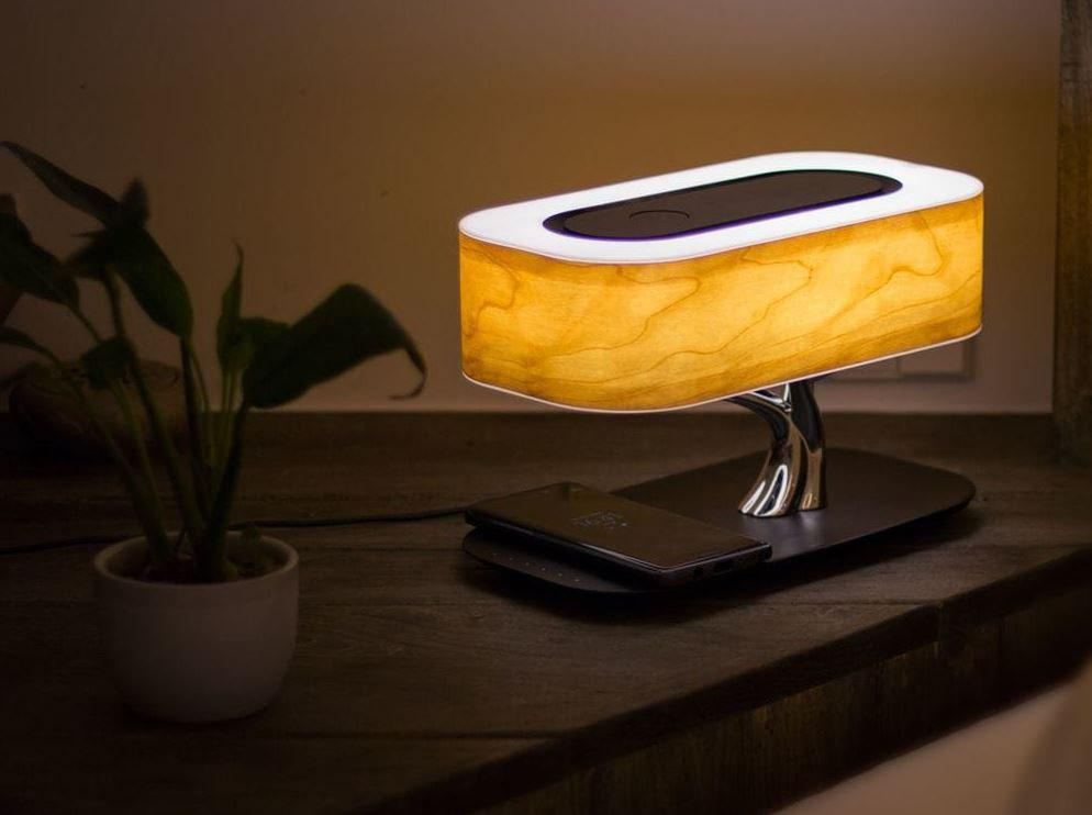 Luz da árvore - Qi Wireless Lamp & Speaker - GearBest