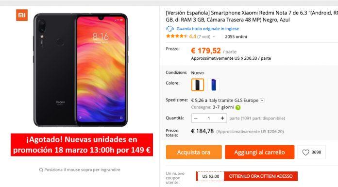 Redmi Note 7 Super Offerta