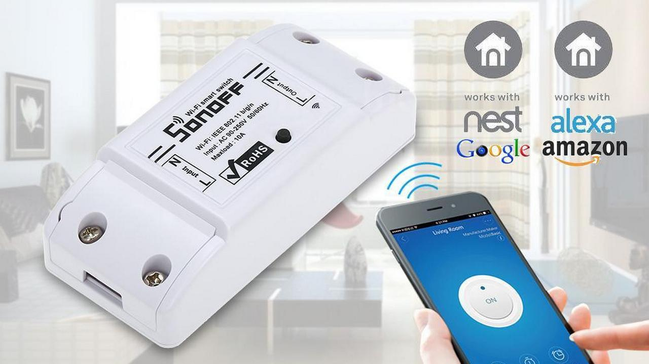 SONOFF BASIC WiFi Wireless Smart Switch - Banggood