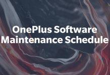 cronograma de manutenção oneplus