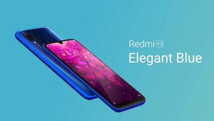 redmi y3 blu