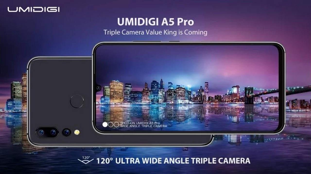 UMIDIGI A5 Pro: triple camera with ultra wide angle and a