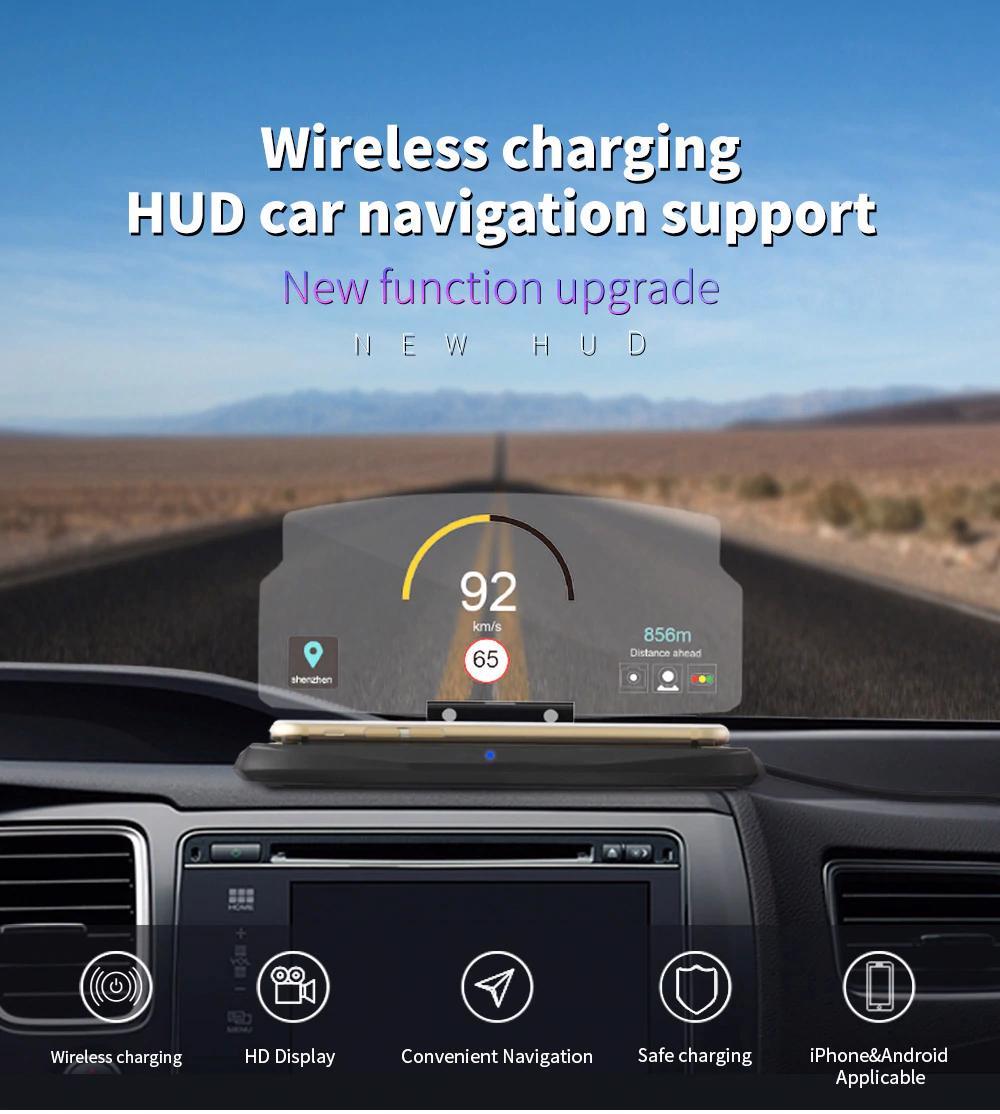 Caricatore Wireless Qi da auto con lunotto incorporato