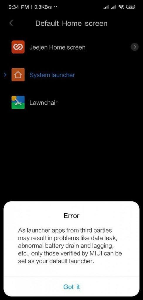 Xiaomi Blocco Launcher