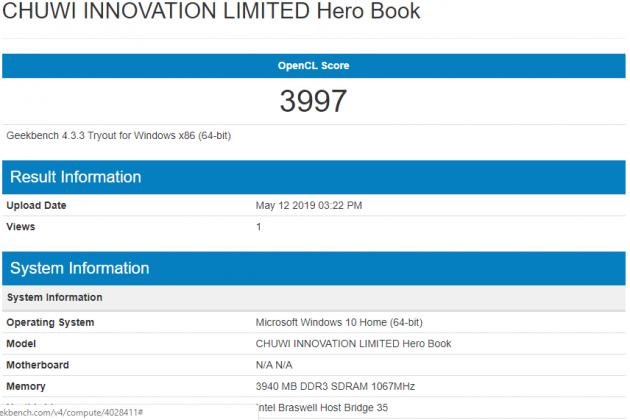Chuwi HeroBook