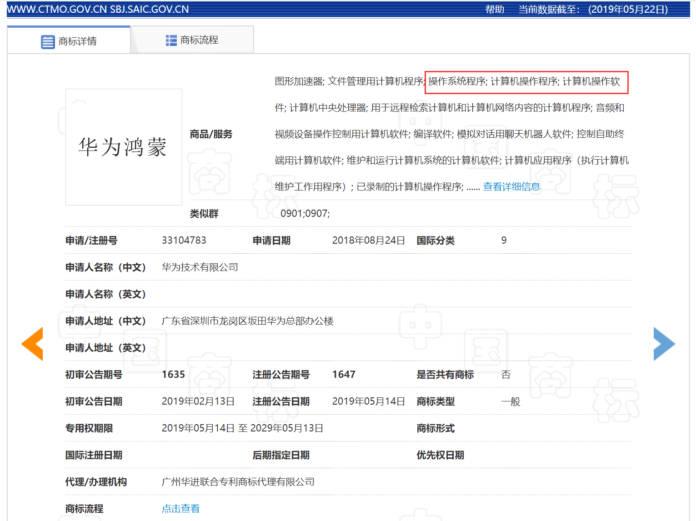 huawei hongmeng brevetto