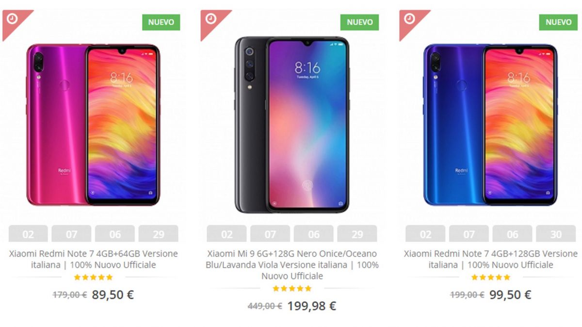 xiaom-it.com site de fraude mi 9 199 €