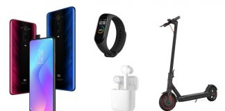 xiaomi mi 9t xiaomi mi band 4 xiaomi mi electric scooter pro mi true wireless earphones