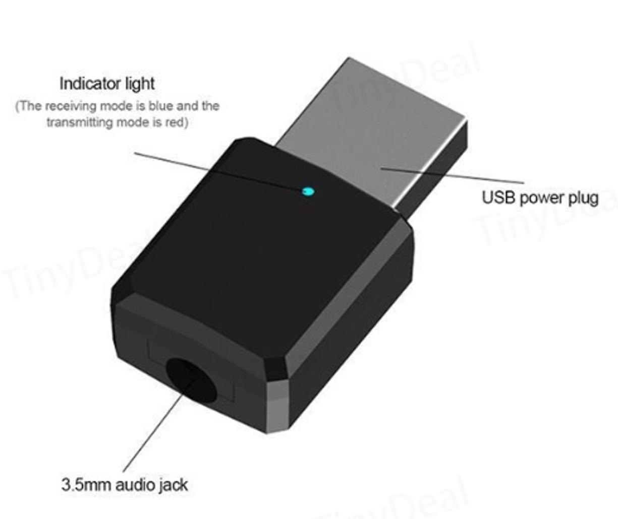 Entrada AUX del transmisor / receptor Bluetooth