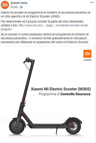 Xiaomi Mi Electric Scooter Das Unternehmen Ruft Sie Wegen Eines Fabrikfehlers An Gizchina It