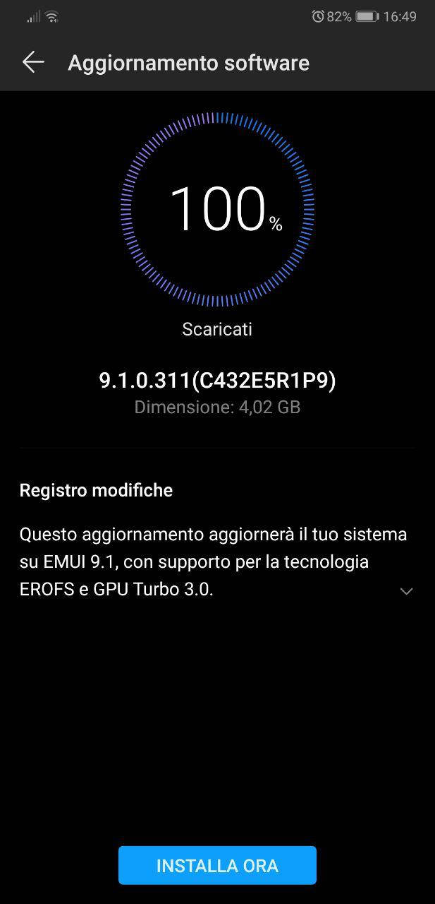 huawei p20 pro actualización emui 9.1