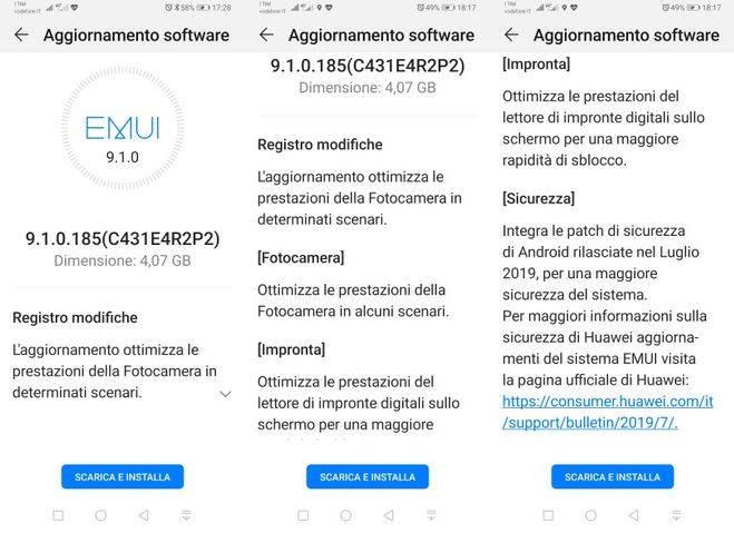 actualización de Huawei p30