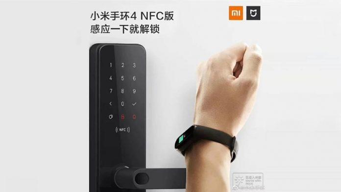 xiaomi mi band 4 mijia smart door lock