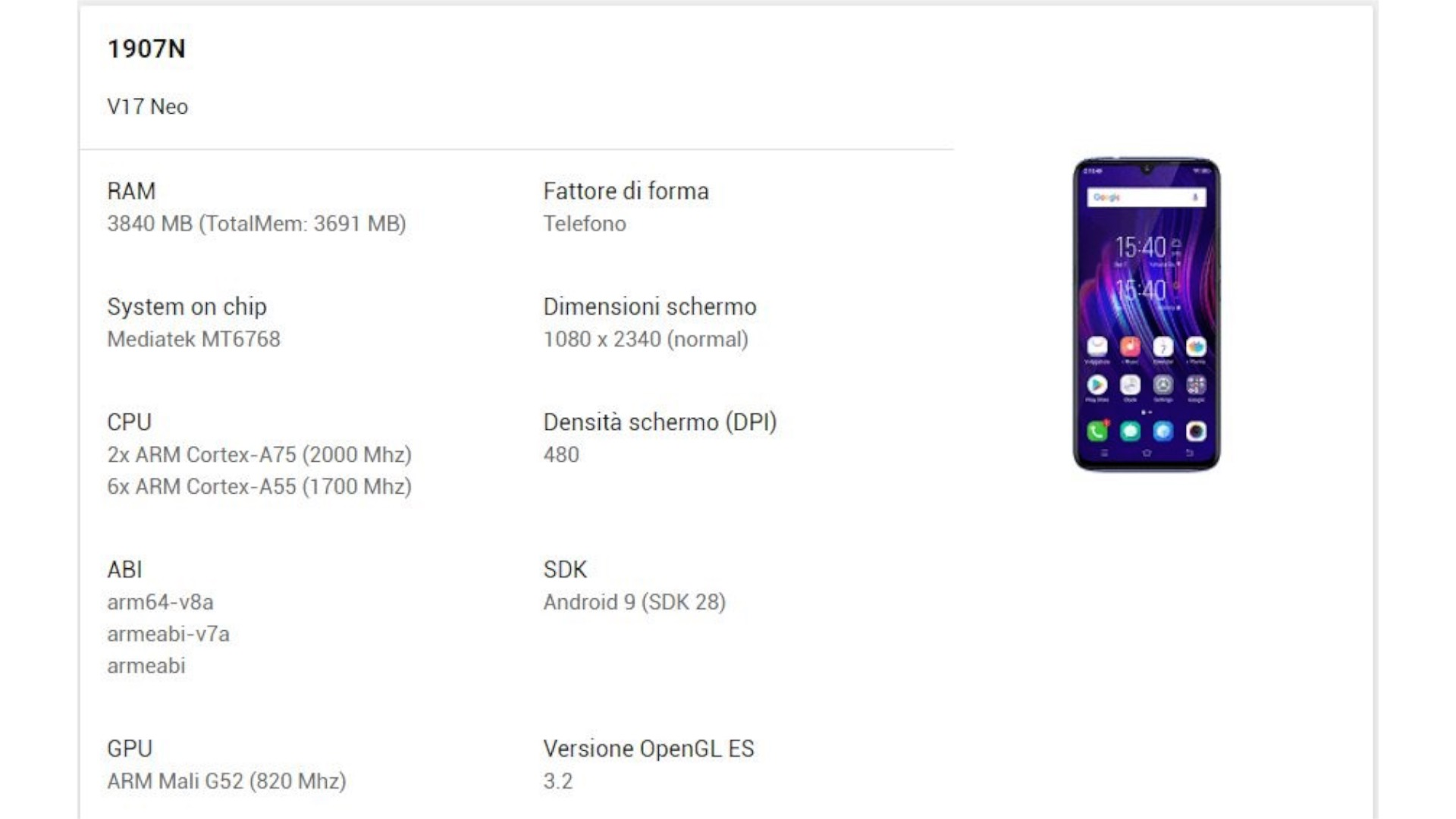 Vivo V17 Neo: Google reveals some specifics and design - GizChina it