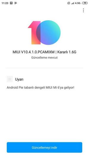 xiaomi mi 6 android 9 pie
