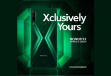 honor 9x emerald green