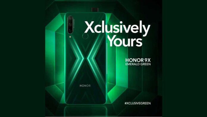 honor 9x emerald green