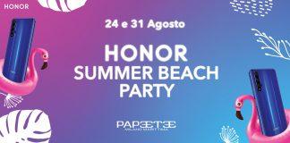 honrar festa na praia de verão