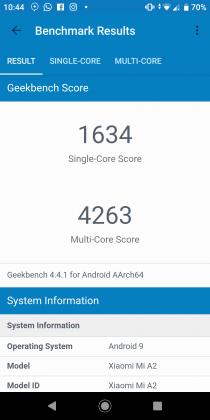 Xiaomi Mi A2 Benchmark