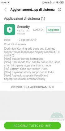 aggiornamento security xiaomi download